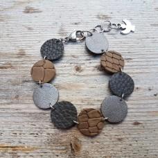 Leather Dots grijs bruin