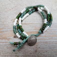 Button groen wit