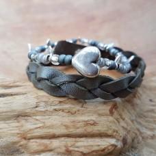 Trenza zilver grijs
