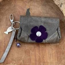 Liesbeth grijs paars met sleutelhanger